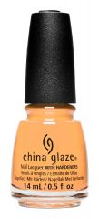 bottle of China Glaze Tangerine Heat creamy orange nail lacquer