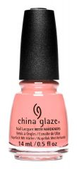 Bottle of China Glaze nail lacquer in Vacay Dreams, a light pink crème