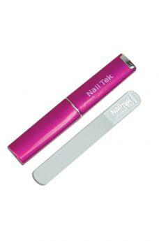 "Nail Tek Mini File 3"" With Fuchsia Companion Case"