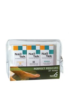 Nail Tek Perfect Pedicure Kit - Foundation 3, Protection Plus 3, Renew - 3/0.5 oz