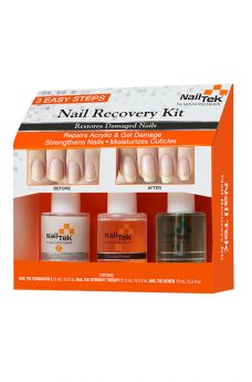 Nail Tek Restore Damaged Nails Kit - Intensive Therapy 2, Foundation 2, Renew - 3/0.5 oz